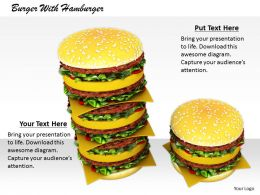 0514 Meal Of Delicious Hamburger Image Graphics For Powerpoint