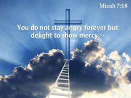 0514 Micah 718 You Do Not Stay Angry Powerpoint Church Sermon