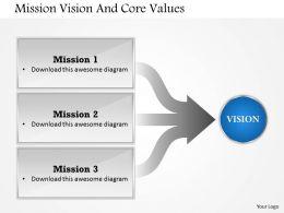 96210522 Style Essentials 1 Our Vision 1 Piece Powerpoint Presentation Diagram Infographic Slide