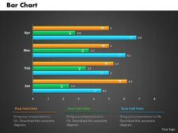 0514 Monthly Data Driven Bar Graph Powerpoint Slides