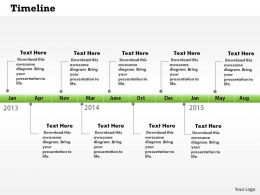 0514 Monthly Target Growth Time Line Diagram Powerpoint Slides
