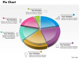 0514 Multicolored Data Driven Pie Chart Powerpoint Slides