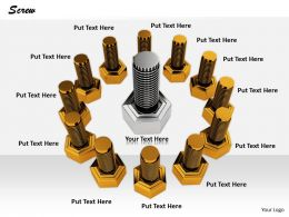0514 Nuts And Bolt Heads Image Graphics For Powerpoint