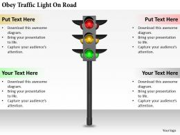 0514 Obey Traffic Light On Road Image Graphics For Powerpoint