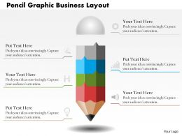 0514 Pencil Graphic Business Layout Powerpoint Presentation