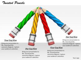 0514 Pencils Pointing In One Direction Image Graphics For Powerpoint