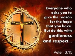 0514 Peter 315 But Do This With Gentleness And Respect Powerpoint Church Sermon