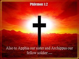 0514 Philemon 12 Also to Apphia our sister PowerPoint Church Sermon
