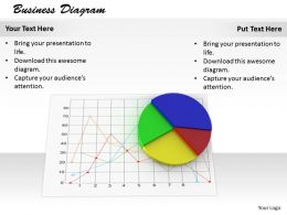 0514 Pie And Line Charts For Business Image Graphics For Powerpoint