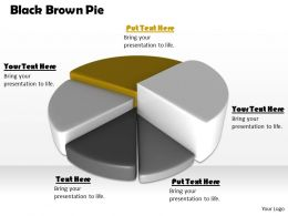 0514 Pie Chart Shows Five Segments Image Graphics For Powerpoint