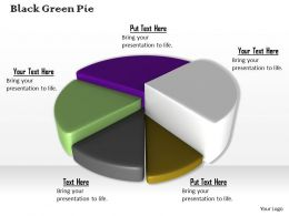 0514 Pie Chart Shows Five Stages Image Graphics For Powerpoint
