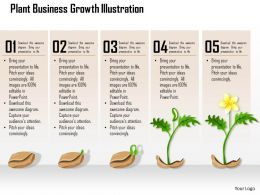 0514 Plant Business Growth Illustration Powerpoint Presentation