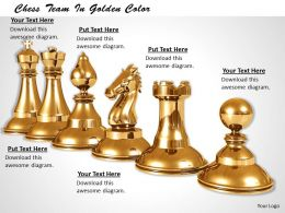 0514 Play Chess With Golden Set Image Graphics For Powerpoint