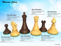 0514 Play Chess With Wooden Set Image Graphics For Powerpoint