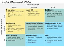 0514 Project Management Matrix Powerpoint Presentation