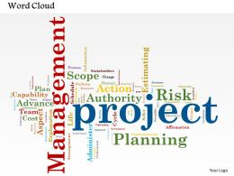 0514 Project Management Word Cloud Powerpoint Slide Template