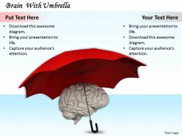 0514 Protect Brain With Umbrella Image Graphics For Powerpoint