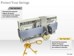 0514 Protect Your Savings Image Graphics For Powerpoint