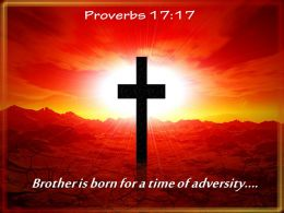 0514 Proverbs 1717 Brother Is Born For PowerPoint Church Sermon