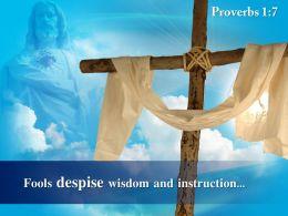 0514 Proverbs 17 Fools Despise Wisdom And Instruction PowerPoint Church Sermon