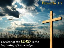 0514 Proverbs 17 The Fear Of The LORD Powerpoint Church Sermon