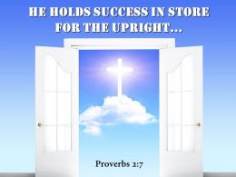 0514 Proverbs 27 He Holds Success In Store Powerpoint Church Sermon