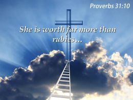0514 Proverbs 3110 She Is Worth Far More PowerPoint Church Sermon