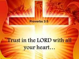 0514 Proverbs 35 Trust in the LORD Power PowerPoint Church Sermon