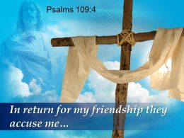 0514 Psalms 1094 In Return For My Friendship PowerPoint Church Sermon