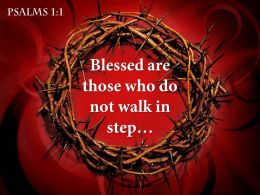 0514 Psalms 11 Blessed Are Those Who PowerPoint Church Sermon