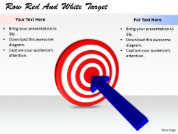 0514 Put Dart On Target Image Graphics For Powerpoint