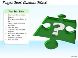 0514 Puzzle With Question Mark Image Graphics For Powerpoint