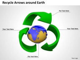 0514 Recycle Arrows Around Earth Image Graphics For Powerpoint