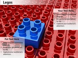0514 Red And Blue Lego Blocks Image Graphics For Powerpoint