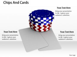 0514 Red And Blue Poker Chips Stock Photo Image Graphics For Powerpoint