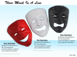 0514 Red White And Black Face Masks Image Graphics For Powerpoint