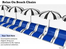 0514 Relax On Beach Chairs Image Graphics For Powerpoint