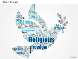 0514 Religious Freedom Word Cloud Powerpoint Slide Template