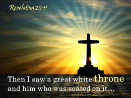 0514 Revelation 2011 Then I Saw A Great White Powerpoint Church Sermon
