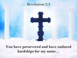 0514 Revelation 23 You Have Persevered And Have Endured Powerpoint Church Sermon