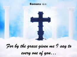 0514 Romans 123 For By The Grace Given Me Powerpoint Church Sermon