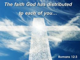 0514 Romans 123 The faith God has distributed PowerPoint Church Sermon