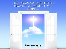 0514 Romans 154 The Encouragement They Provide Power Powerpoint Church Sermon