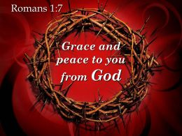 0514 Romans 17 Grace And Peace Powerpoint Church Sermon
