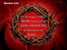 0514 Romans 623 For The Wages Of Sin Is Death Powerpoint Church Sermon