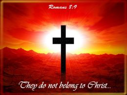 0514 Romans 89 They Do Not Belong To Powerpoint Church Sermon