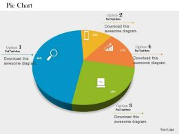 0514 Sales Data Driven Pie Chart Powerpoint Slides