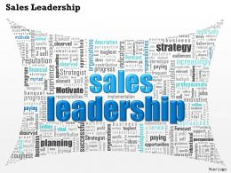 0514 Sales Leadership Word Cloud Powerpoint Slide Template