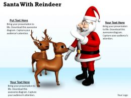 0514 Santa And His Reindeer Image Graphics For Powerpoint