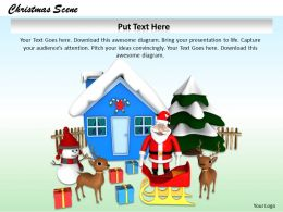 0514 Santa Give Gifts On Christmas Image Graphics For Powerpoint